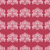 Red floral seamless pattern. Pale red and beige colored background. For wallpapers, textile and fabrics Royalty Free Stock Photos
