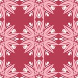 Red floral seamless pattern. Pale red and beige colored background. For wallpapers, textile and fabrics Royalty Free Stock Image