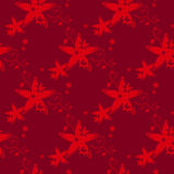 Red floral seamless pattern Royalty Free Stock Photo