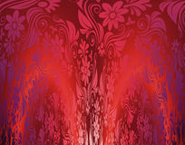 Red floral seamless wallpaper illustration Royalty Free Stock Image