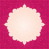 Red floral vector pattern wallpaper mandala background trendy fashion mandala design with copy space. Red floral vector pattern wallpaper background trendy royalty free illustration