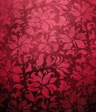 Red floral wallpaper Royalty Free Stock Images