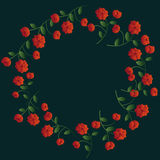 Red Floral Wreath Stock Photography