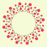 Red Floral Wreath Royalty Free Stock Photos