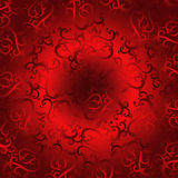 Red flourish background Royalty Free Stock Image