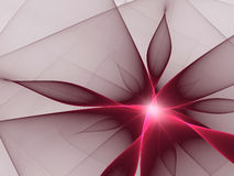 Red flower. Other fractals also available vector illustration
