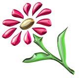 Red flower. 3D flower illustration vector illustration