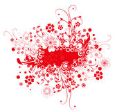 Red flower banner Stock Photo