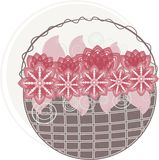 Red flower basket Royalty Free Stock Photos
