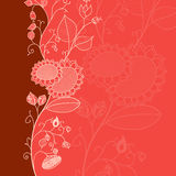 Red Flower Card Royalty Free Stock Photography