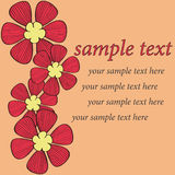 Red flower card pattern design Stock Photos