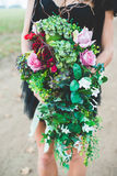 Red Flower Crown Styled Shoot Royalty Free Stock Image