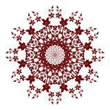 Red  flower. Decorative  red  flower with vintage round patterns Royalty Free Stock Images