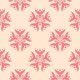 Red flowers on beige background. Seamless pattern. Red flower elements on beige background. Seamless pattern for textile and wallpapers Royalty Free Stock Photography