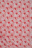 Red flower fabric background texture Stock Images