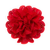 Red flower fabric Stock Photos