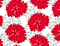 Red flower. Floral seamless pattern with red flowers royalty free illustration