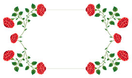 Red flower frame Stock Photo