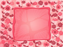 Red flower frame royalty free stock photos