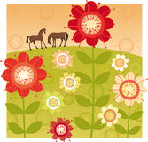 Red flower garden Royalty Free Stock Images
