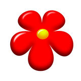 Red flower icon Royalty Free Stock Images