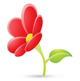 Red Flower Icon Stock Image