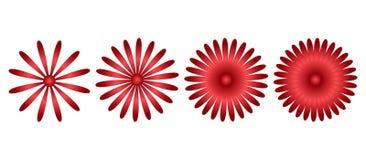 Red flower icons. Vector illustration stock illustration