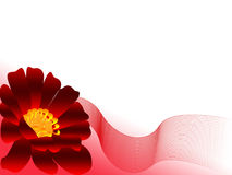 Red flower with net. On white background royalty free illustration