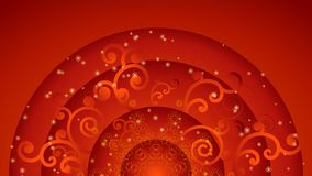 Red flower ornate background Stock Images