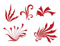 Red flower pattern Stock Images