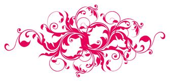 Red flower pattern Stock Photography