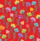 Red flower pattern Royalty Free Stock Photos