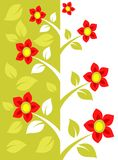 Red flower pattern stock photos