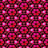 Red flower pattern Royalty Free Stock Images