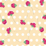Red flower pattern background stock photography