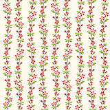Red flower pattern repeat background. Stock Photos