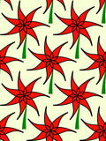 Red Flower pattern Royalty Free Stock Image