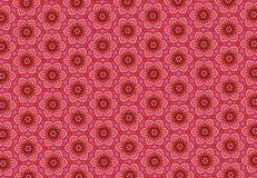 Red flower pattern wallpaper. Royalty Free Stock Photography