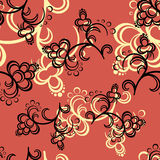 Red Flower Pattern Stock Image