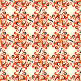 Red flower petals abstract seamless pattern vector illustration Stock Photo