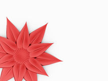 Red flower rendered on white Stock Photography