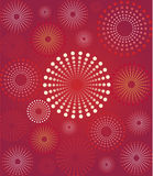 Red flower retro background Royalty Free Stock Images