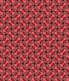 Red flower seamless background Stock Image