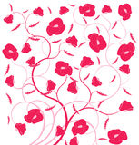 Red flower seamless pattern Royalty Free Stock Photography