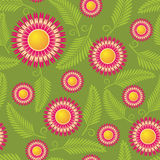Red flower seamless pattern Royalty Free Stock Photos