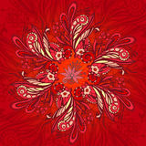 Red flower seamless pattern Stock Photography