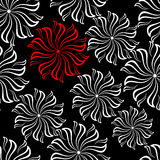Red Flower Seamless Pattern Royalty Free Stock Photo