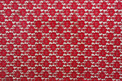 Red flower style fabric. Royalty Free Stock Images