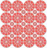 Red flowered pattern Royalty Free Stock Image