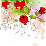 Red flowers royalty free illustration